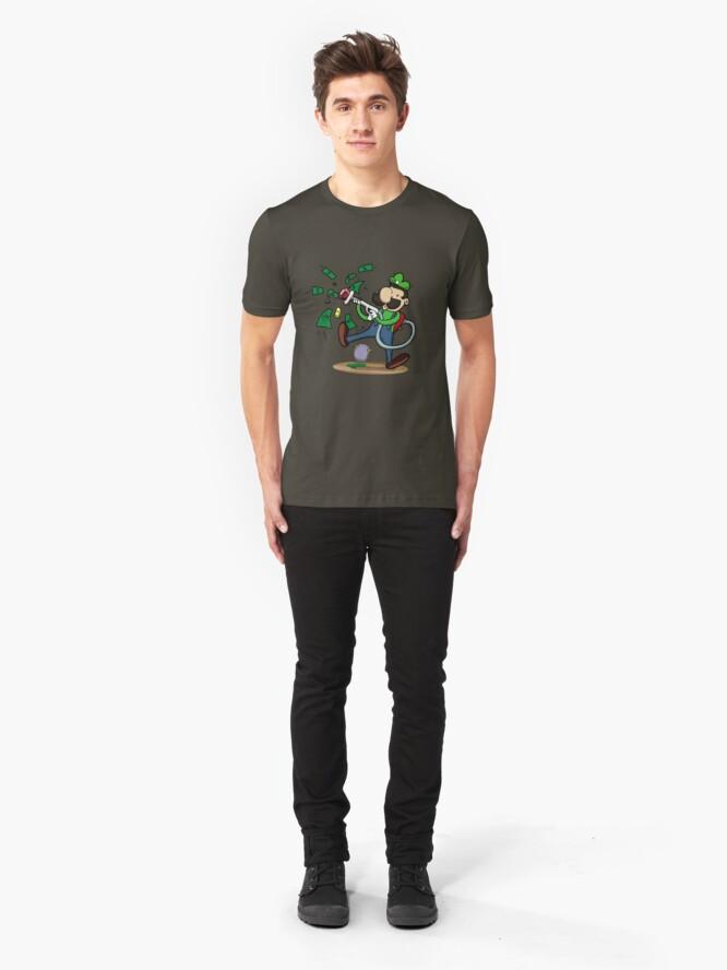 Alternate view of Green Ghost Hunter Slim Fit T-Shirt