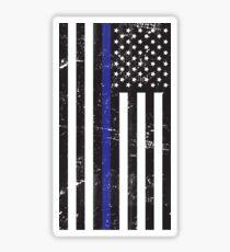Pegatina Las vidas azules importan la bandera apenada