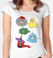 Cute Girl Faces Women's Fitted Scoop T-Shirt