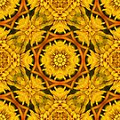 Yellow Flower Petals Abstract Pattern by SmilinEyes