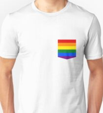 lgbt+ pride flag pocket Unisex T-Shirt