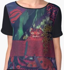 GLASS ANIMALS // BLACK MAMBO Women's Chiffon Top