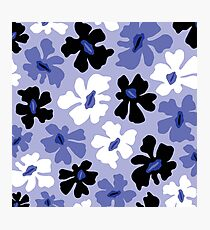 Rumpled Floral Print Photographic Print