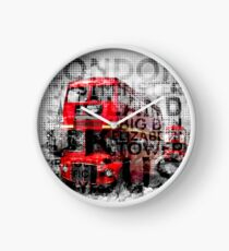 Graphic Art LONDON WESTMINSTER Buses | Typography Clock