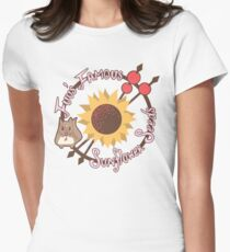Fuu's Famous Sunflower Seeds Women's Fitted T-Shirt