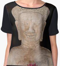 Buddha statue isolated on back background, Thailand Women's Chiffon Top