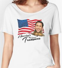 America's National Treasure - Black Text Women's Relaxed Fit T-Shirt