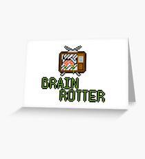 TV Brains! Greeting Card