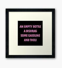 And Thou - Hot Pink Violet Framed Print