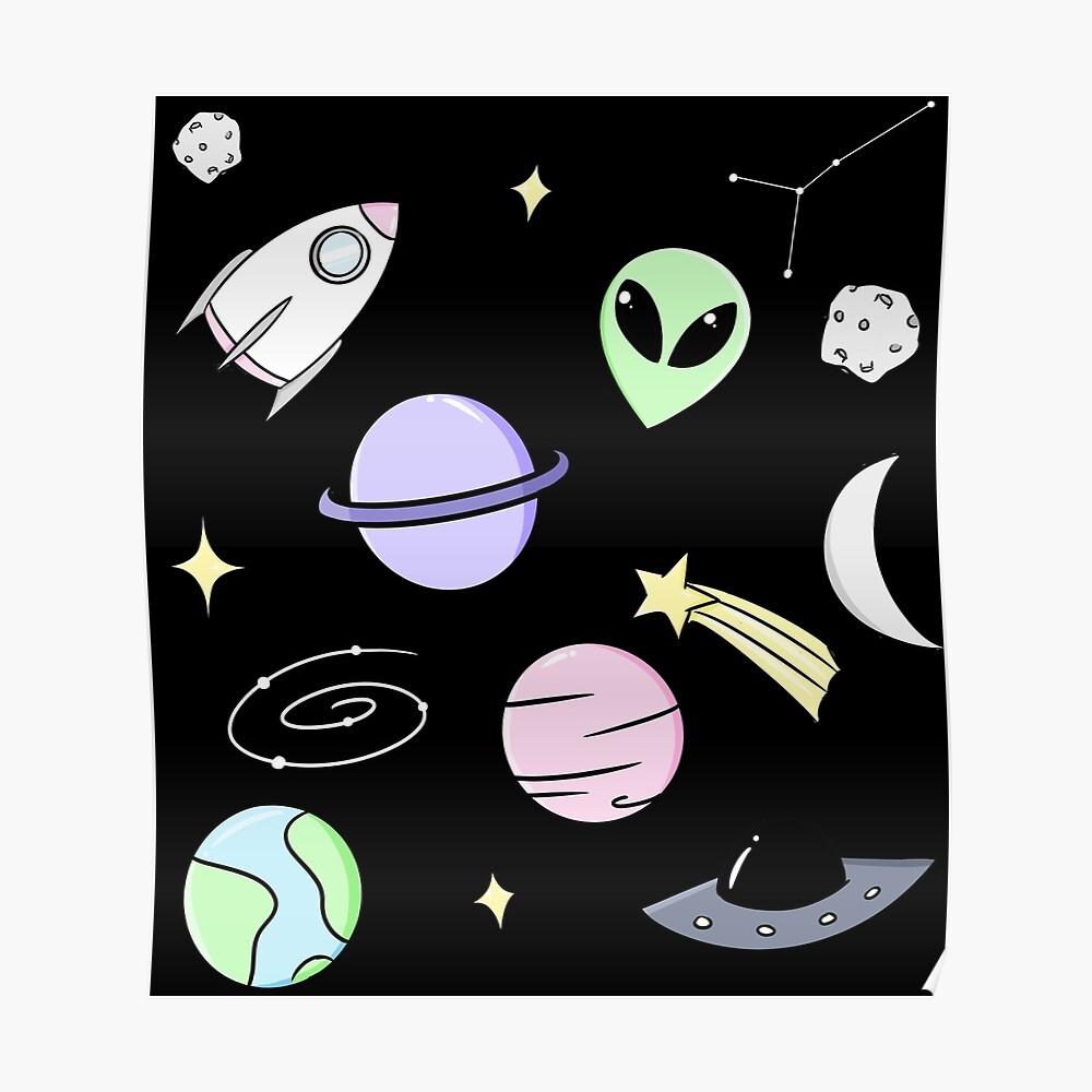 Raumästhetik (schwarz) Poster