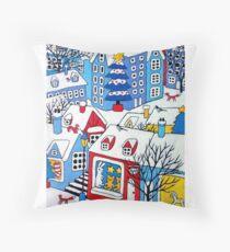 Christmas market Throw Pillow