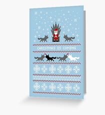 Christmas Is Coming Santa Edition  Greeting Card