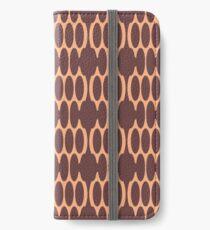 Peach Burgundy Foulard iPhone Wallet/Case/Skin
