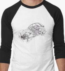 Citroen 2cv | Cars Men's Baseball ¾ T-Shirt