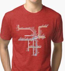 Los Angeles Metro Rail Map Tri-blend T-Shirt