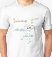 Los Angeles Metro Rail Map Unisex T-Shirt
