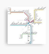 Los Angeles Metro Rail Map Canvas Print