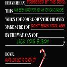 Funny Dear Santa Form Letter by tommytidalwave