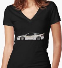 Chris Van Den Elzen's Subaru SVX Drift Car Women's Fitted V-Neck T-Shirt
