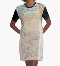 Alexander Hamilton Papers Collection Graphic T-Shirt Dress