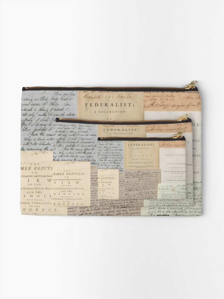 Alternate view of Alexander Hamilton Papers Collection Zipper Pouch