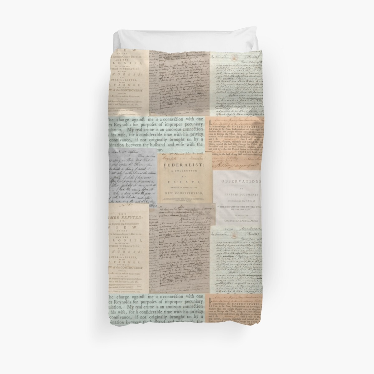 Quot Alexander Hamilton Papers Collection Quot Duvet Covers By