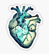 Great Wave Anatomical Heart- ALTERED Sticker