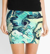 Great Wave Anatomical Heart- ALTERED Mini Skirt
