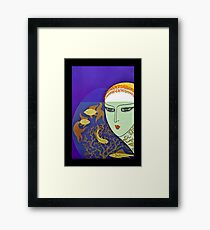 "Art Deco Design by Erte ""Goldfish Gazing"" Framed Print"
