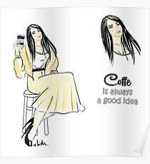 coffee girl Poster