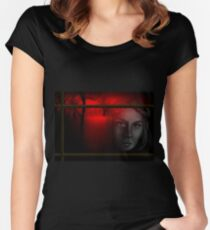 The Monster - Mary Shelley Women's Fitted Scoop T-Shirt