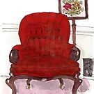 VICTORIAN PLANTER'S CHAIR by dkatiepowellart