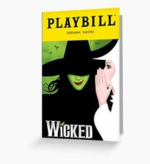 Wicked Playbill Greeting Card