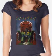 2000ad Christmas Women's Fitted Scoop T-Shirt