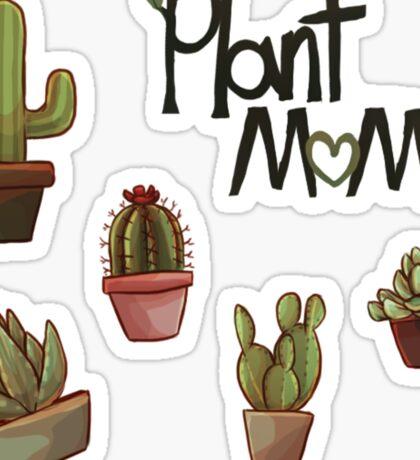 Plant Mom- Cactus Sticker
