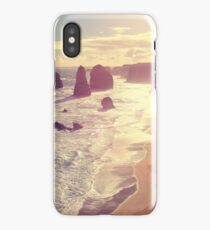 Twelve Apostles with Sun Flare Port Campbell National Park Australia iPhone Case