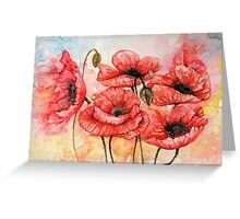 Red Poppies fantasy  Greeting Card