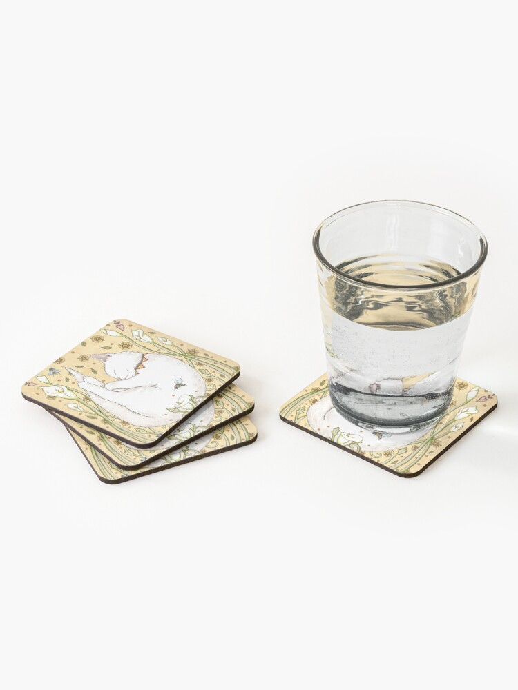 Alternate view of Butterflies and Bees Coasters (Set of 4)