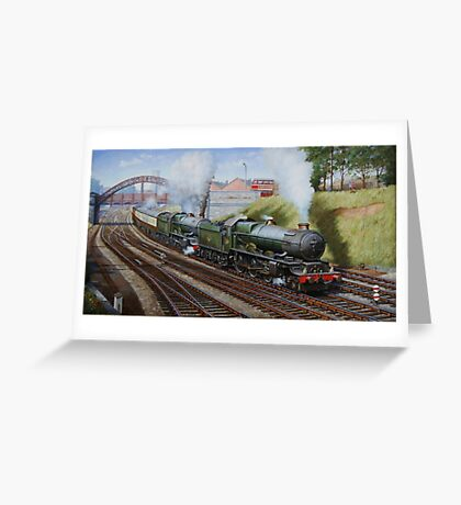 A Summer Saturday in the West. Greeting Card