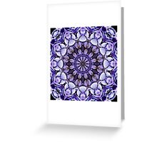 Blue Hydrangea Abstract Flower Petals Greeting Card