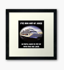 One-liner Framed Print