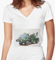 Bedford breakdown AFS. Women's Fitted V-Neck T-Shirt