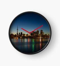 Blue Hour - Toronto's Dazzling Skyline Reflecting in Lake Ontario Clock