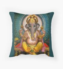 Lord Ganesha Indian Hindu Oriental art Spiritual  Throw Pillow