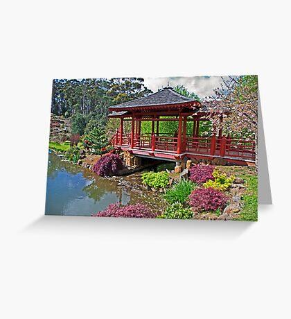 Japanese Bridge at Emu Valley Greeting Card