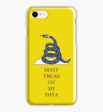 Don't Tread On My Data iPhone Case/Skin