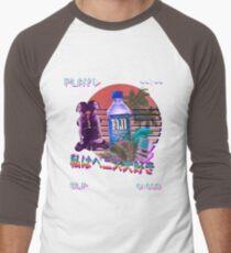 Vaporwave Fiji Bottle Men's Baseball ¾ T-Shirt