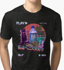 Vaporwave Fiji Bottle Tri-blend T-Shirt