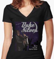 Duke Silver Women's Fitted V-Neck T-Shirt