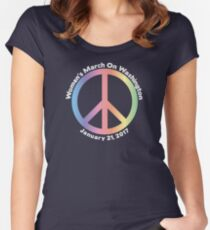 Women's March On Washington Peace Sign Women's Fitted Scoop T-Shirt